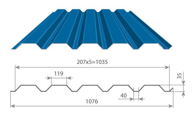Картинки по запросу Профнастил МП-35 х 1035